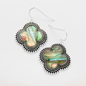 Abalone Clover Earrings