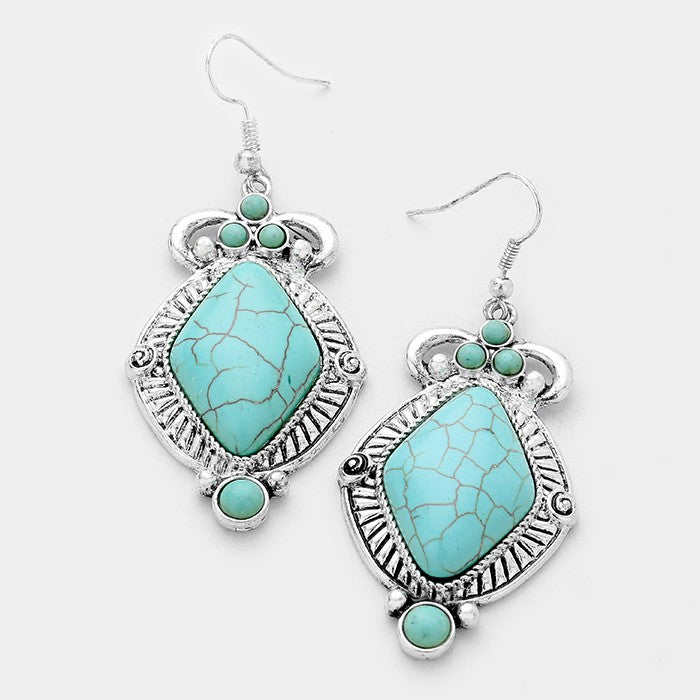 Unique Turquoise Fashion Earrings