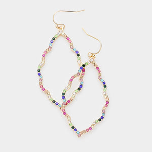 Crystal Multi-Color Rhinestone Moroccan Earrings