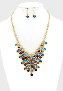 Crystal Rhinestone Bubble Necklace Set - Bedazzled By Jeanelle - 1
