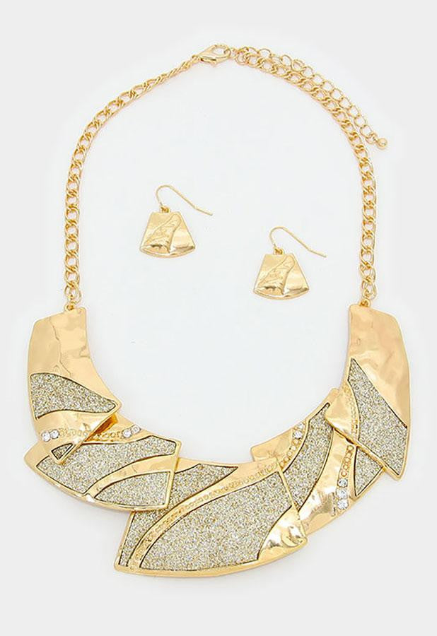 Crystal Druzy Collar Necklace Set - Bedazzled By Jeanelle - 2