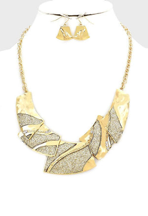 Crystal Druzy Collar Necklace Set - Bedazzled By Jeanelle - 1
