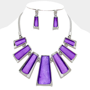 Bar Link Statement Necklace Set - Bedazzled By Jeanelle