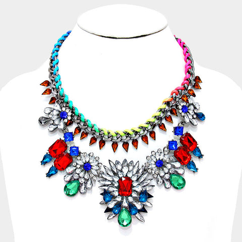 Bejeweled Crystal Statement Necklace - Bedazzled By Jeanelle - 1