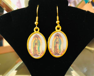 Our Lady of Guadalupe Religious Earrings