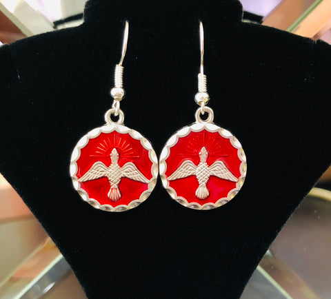 Silver Plated Confirmation Earrings