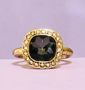 Gold and Grey Fashion Ring