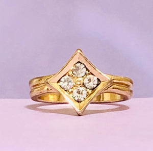 Gold Rhombus Fashion Ring