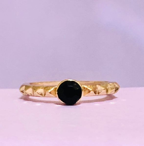 Gold and Black Fashion Ring