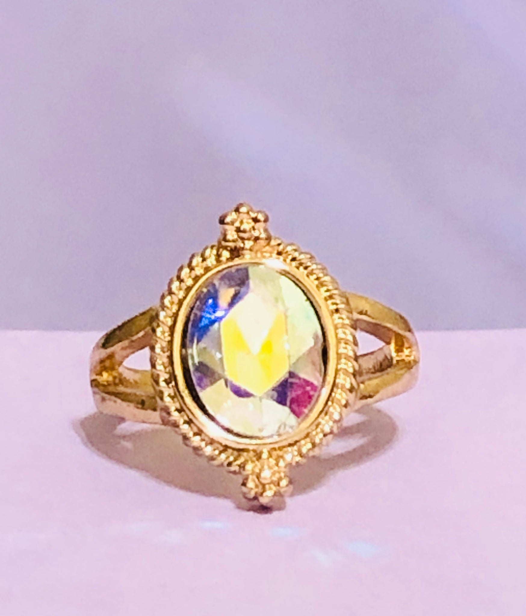 Gold Holographic Fashion Ring