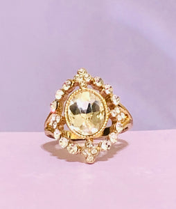Intricate Gold Jeweled Fashion Ring