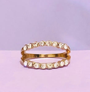 Gold Double Strand Fashion Ring