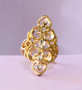 Gold Jeweled Fashion Ring