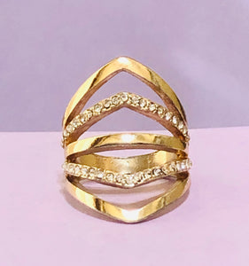 Gold Abstract Fashion Ring