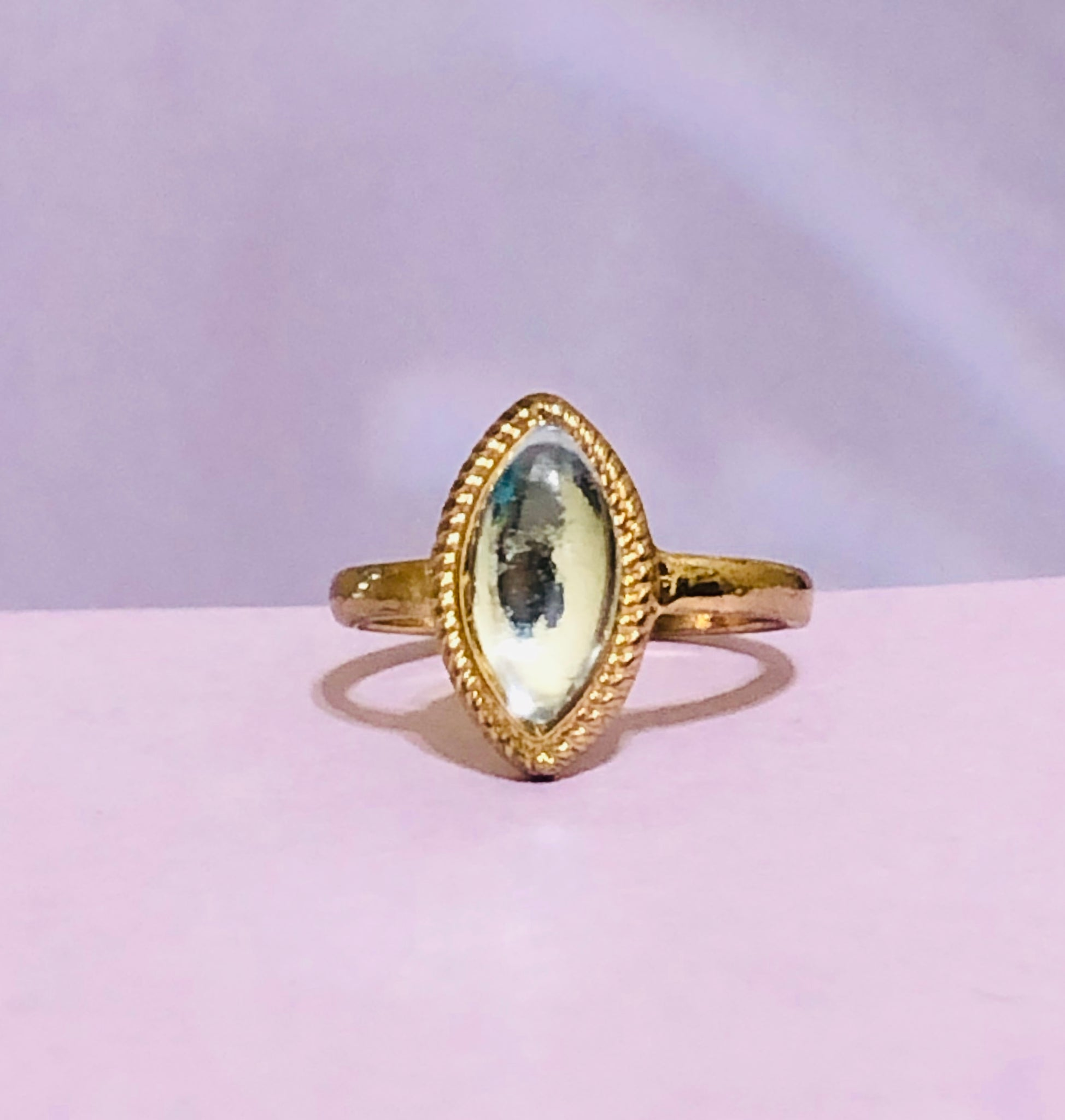 Gold Oval Fashion Ring