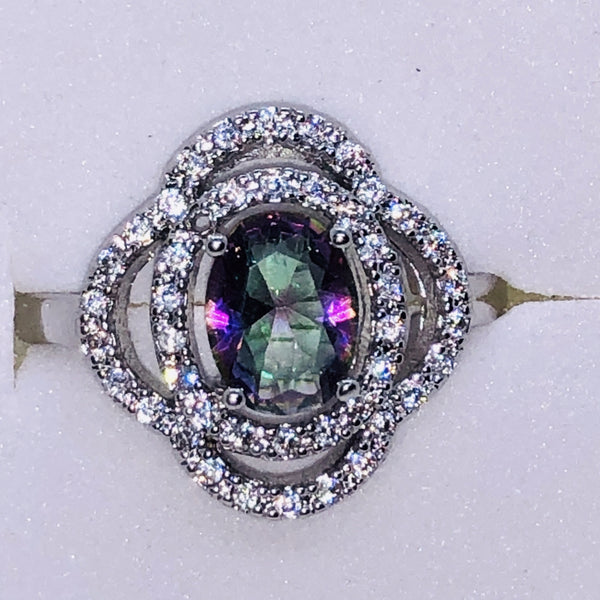 Sterling Silver Mystic Rainbow Topaz Ring