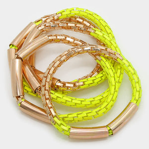 Multi-Layered Bangle Bracelet Set