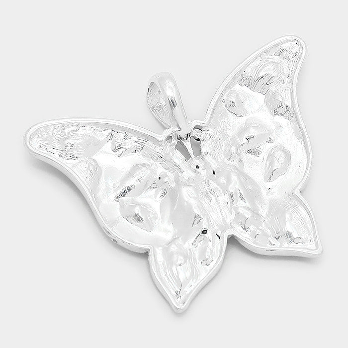 Crystal Rhinestone Butterfly Pendant Set - Bedazzled By Jeanelle - 2