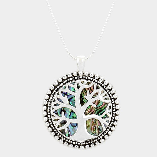 Tree of Life Abalone Pendant Necklace