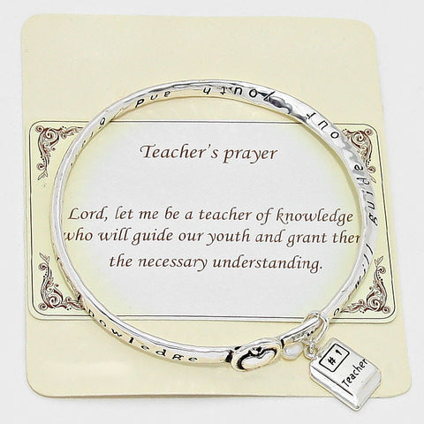 Teacher's Prayer Bracelet