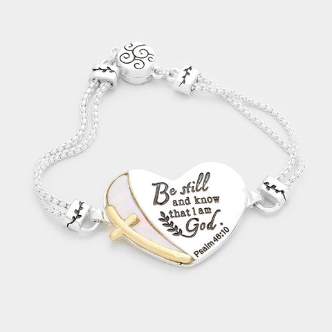 Mother of Pearl Serenity Heart Bracelet