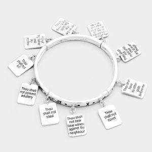 Ten Commandments Charm Bracelet