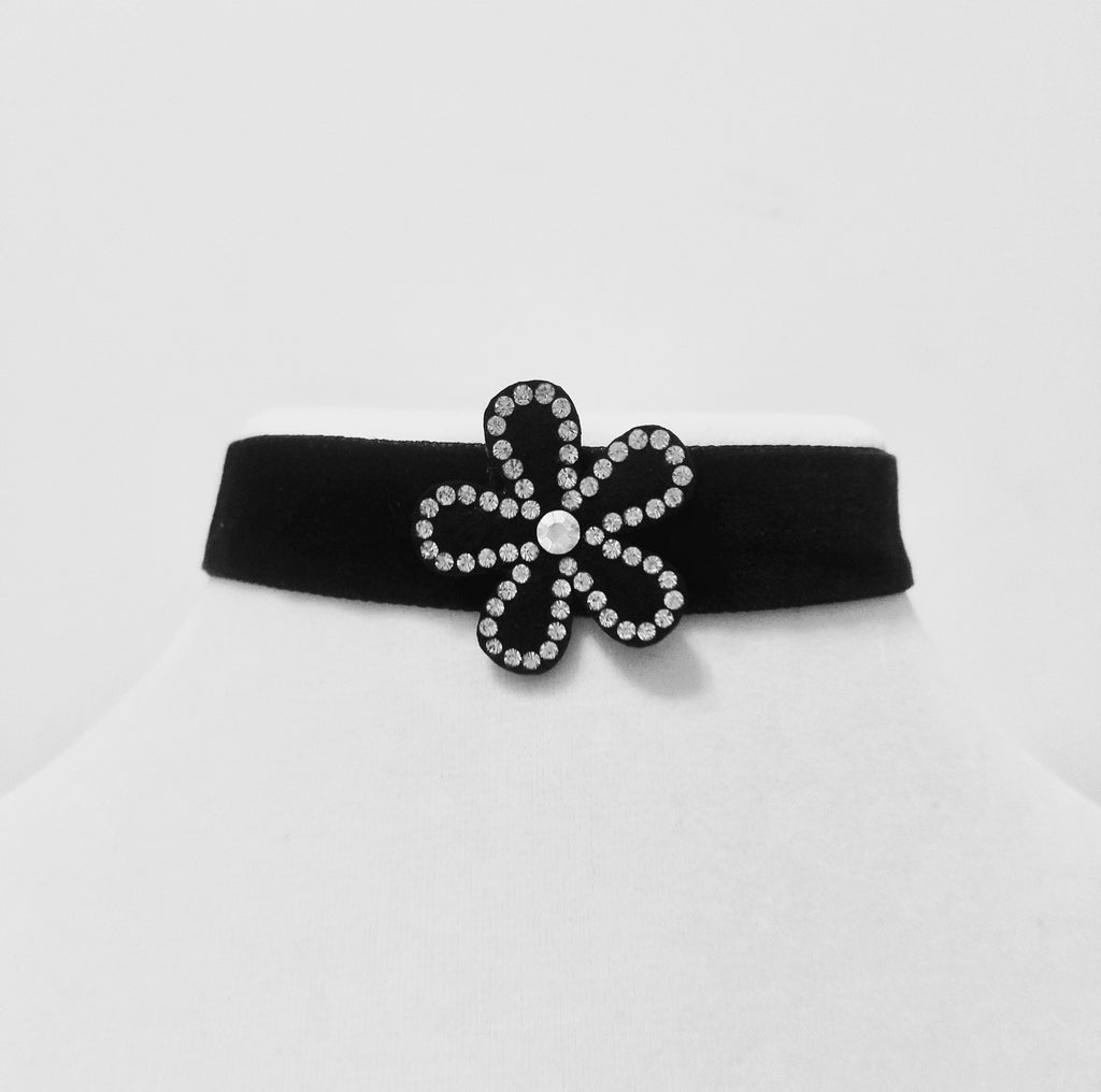 New Black Flower Choker