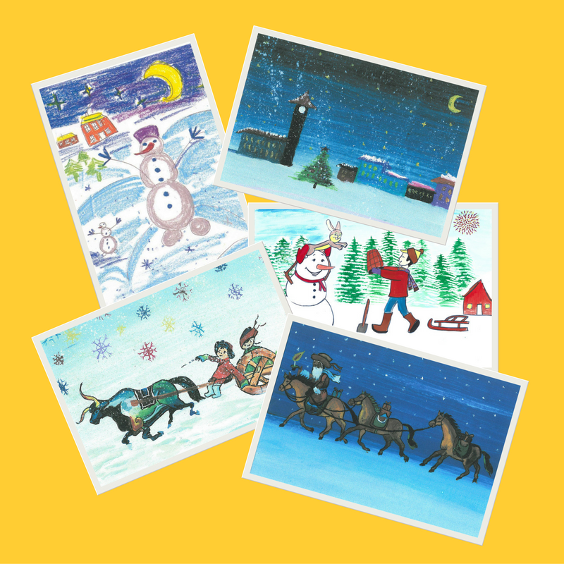 Christmas Cards with Artwork by the Sunshine Children