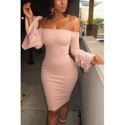 Sheath Trumpet Sleeve Bodycon