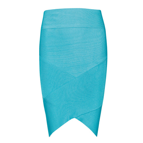 Aqua Blue Bandage Skirt