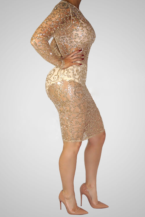 Longsleeve Perspect Multi-Piece Bodycon