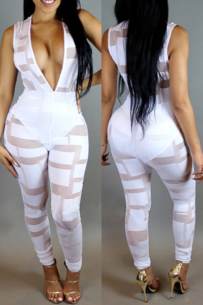 Sheer Perspect Lace Jumpsuit