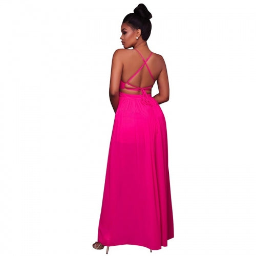 Aliza Pink Cut-Out Maxi
