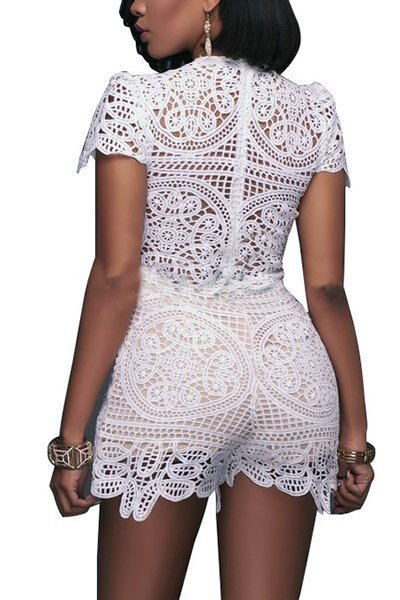 Illusionist Lace Romper