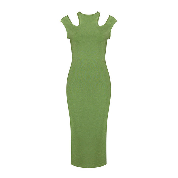 Emerald Green Sleeveless Bandage  Midi