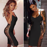 Black Single Strap Side Cut-Out Bandage