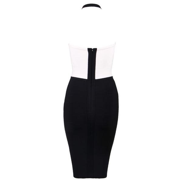 Black White Bandage BracupDress