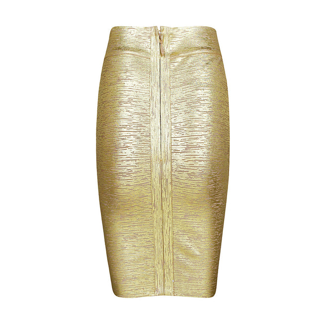 Gold Foil Bandage Skirt