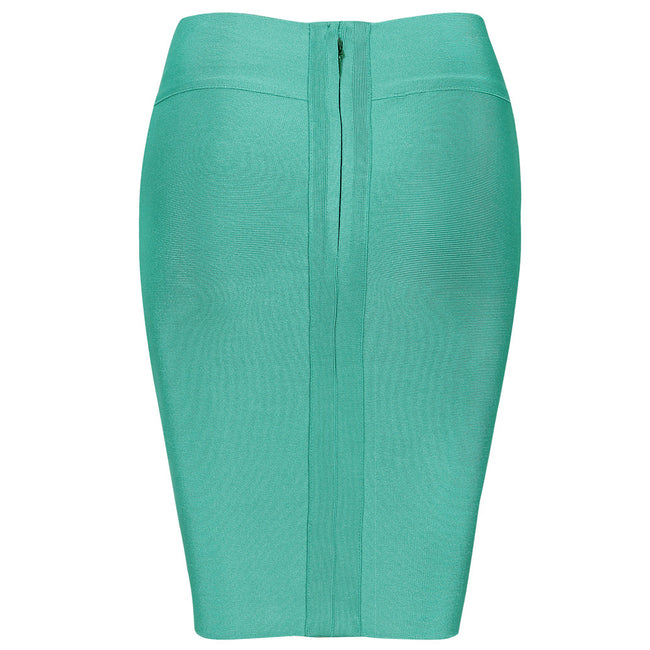 Sea Green Ribbed Aquamarine Skirt