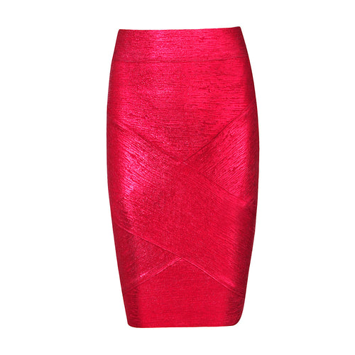 Neon Red Bandage Skirt