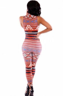 Moroccan  Tribal Jumpsuit