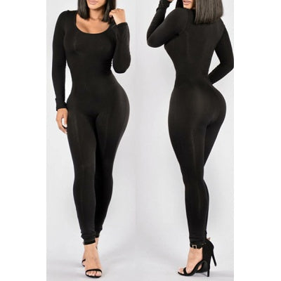 Skinny-Fit Bodycon Jumpsuit