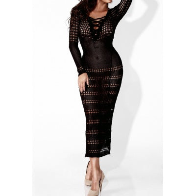 Belladonna Black Lace Midi Dress