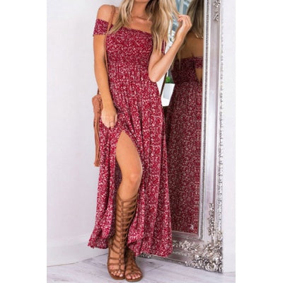 Multi-Color Sleeveless Tie-Dye Maxi