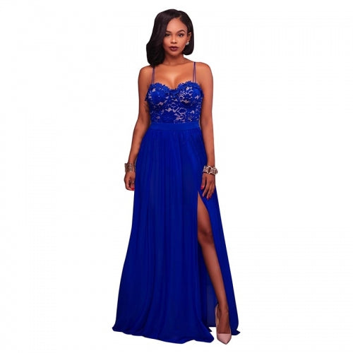 Antonique Blue Lace Padded Lace Maxi