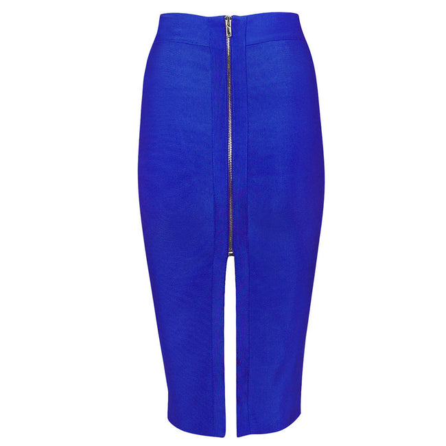 Royal Blue Back Split Pencil Skirt