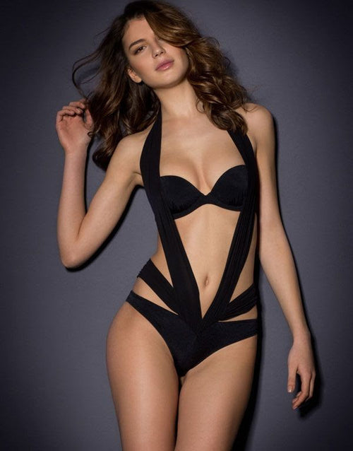 Sexy Black Strappy Bandage Beachwear