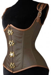 Leather Clasp Corset