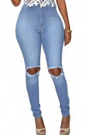 Tamica High Waist Slash Jeans