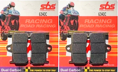 SBS Dual Carbon race brake pads